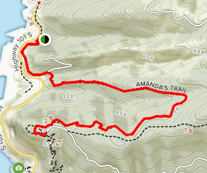 Amanda's Trail to Whispering Spruce Trail Map
