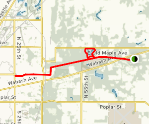 Heritage Trail and Maple Avenue Lake Map