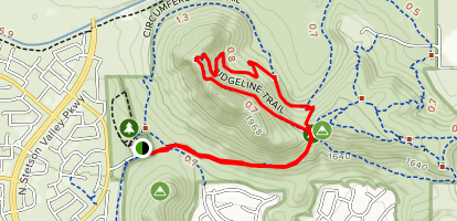 Deems Hill Ridgeline Map