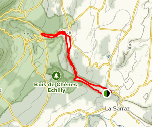 Nozon: St Loup to Croy Map