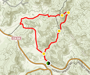 Honey Springs Trail to Hollenbeck Canyon Loop Map