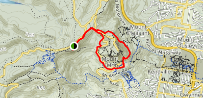 Robertson's Lookout and Mount Keira Ring Track Map