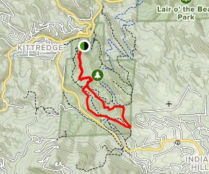 Picnic and West Ridge Loop Map