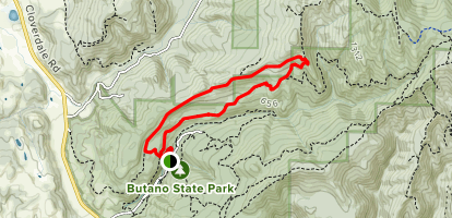 Mill Ox to South Butano Fire Trail to Jackson Flats Trail Map