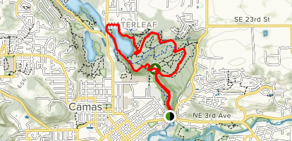 Lake to Lake Trail Loop via Lacamas Creek Map