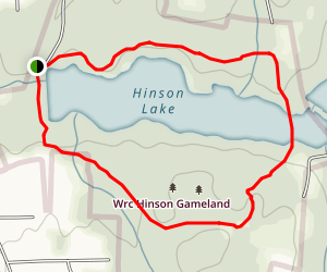 Hinson Lake Map