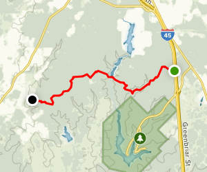 Lone Star Hiking Trail: Huntsville Section Map
