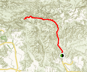 Upper Las Virgines Canyon to Sheep Corral Trail Map