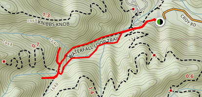 Uvas Canyon Short Waterfall Loop Map