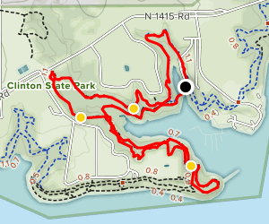 White Trail from Lake Henry to Lands End Junction  Map