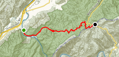 Appalachian Trail: Nolichucky River to Indian Grave Gap Map