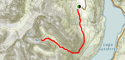 Refugio Frey to Cerro Catedral Map
