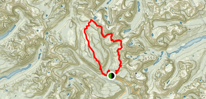 Granite Park to Flattop Mountain Trail Map