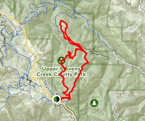 Table Mountain Trail Loop via Charcoal and Table Mountain Fire Roads Map