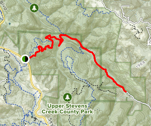 Grizzly Flat Trail South to Canyon Trail Map