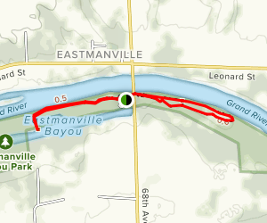 Eastmanville Bayou Trail Map