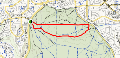 Nose Hill Nature Loop Map