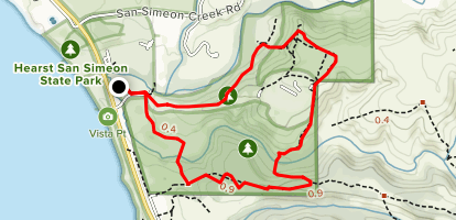 Campgrounds In California Map.San Simeon Trail To Washburn Campground Loop California Alltrails