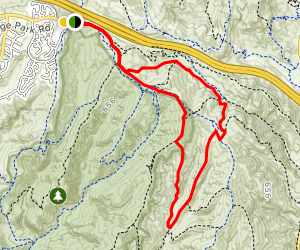 Bommer Ridge, Lizard, laurel Spur, Emerald Canyon Road and Old Emerald Falls Loop Map