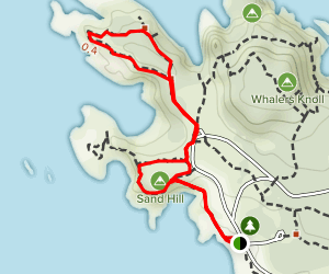 Cypress Grove Trail via South Shore Trail Map