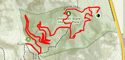 Miwok to Upper Mt Burdell Trail Map