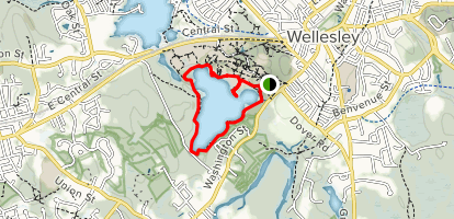 Lake Waban Path (PRIVATE PROPERTY) Map
