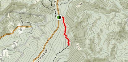 Pass Mountain Summit via Appalachian Trail Map