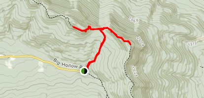 Acra Point and Burn Knob Hill Map