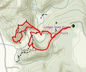 Canyon Road and Table Rock Loop from Canyon Road Map