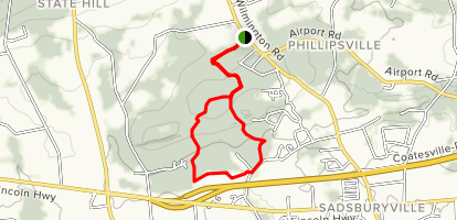 Sadsbury Woods Loop Map