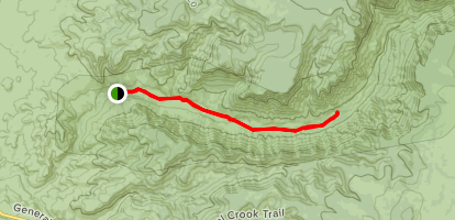 West Clear Creek Trail Map