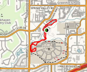 Vitruvian Park and Brookhaven Running Track Loop Map