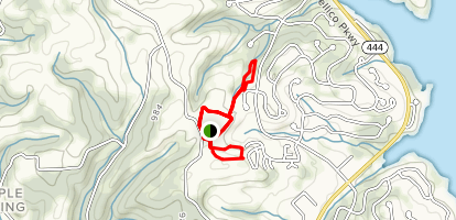 Red Hawk, Box Turtle, and Smiling Frog Trail Map