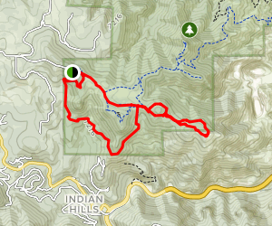Parmalee Trail to Devil's Elbow Trail to Castle Trail Map