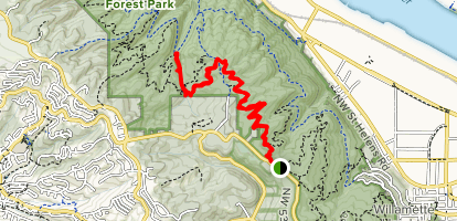 Wildwood Trail to Nature Trail Map