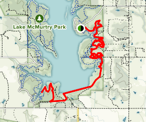 Red Trail to Green Connector Trail Map