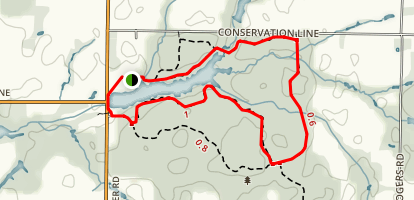 Bradley's Creek and Springwater Pond Loop Map
