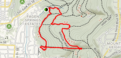 Alms House Trail, Waterline Trail, Wagon Trail, Watts Trail Map