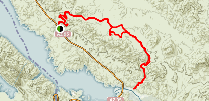 Cat Tail Cove to Rovey's Needle  Map