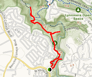 Arroyo Conejo Trail Map