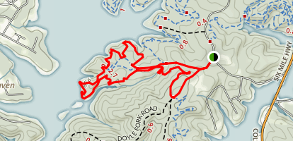 Double Fork Tree Trail Map