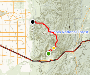 Hawk Watch, South Crest, and Embudito Trails Map
