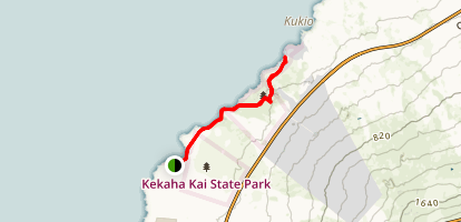 Mahai'ula to Kua Bay  Map