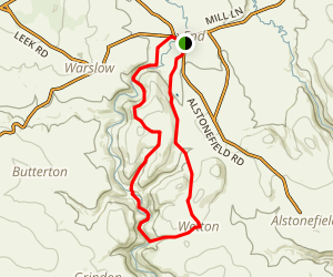 Hulme End to Wetton Loop Map