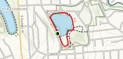 Hiawatha Lake Loop Map