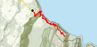 Awini Trail to Honokane Nui Lookout Map