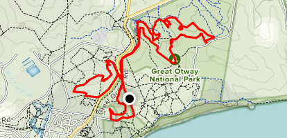 Anglesea Tracks South and North of Highway Map