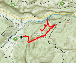Cohab to South Fruita Overlook Map