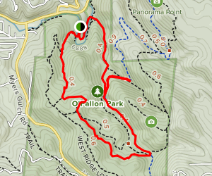 Meadow View, Bear Creek and Picnic Trail Loop Map
