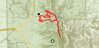 North Franklin Mountain via the Rim Map